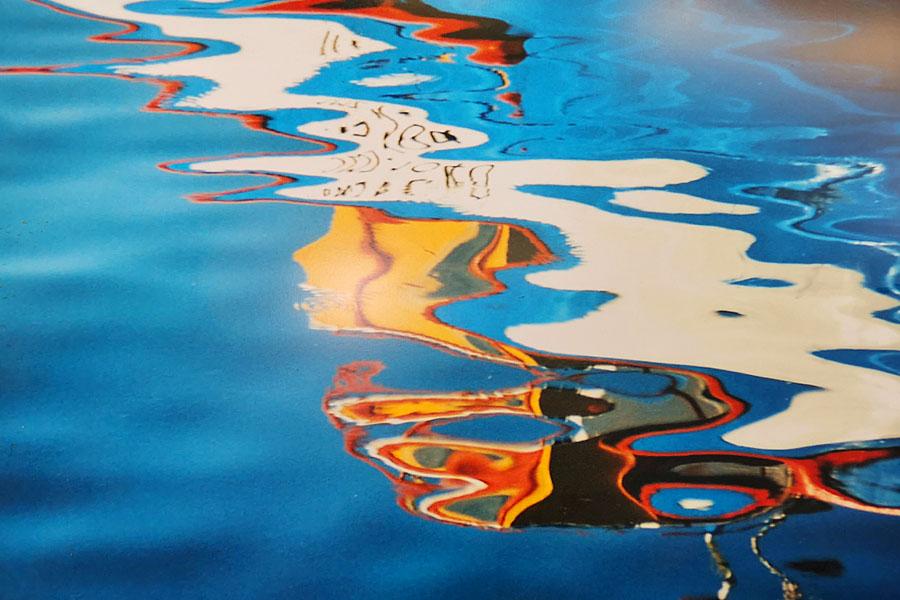 GoldenCircle Wasserbild Sigrid Kiessling-Rossmann blau
